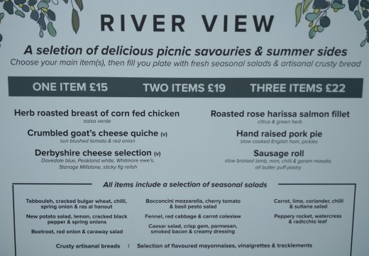 River View cafe menu and prices