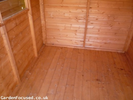 Tongue and groove flooring of Albany sheds