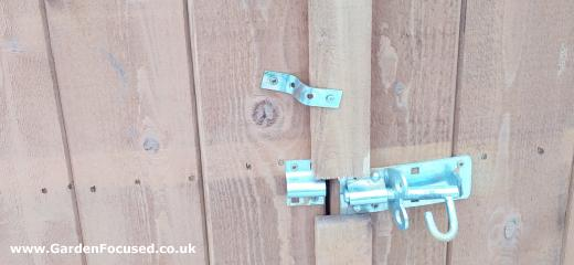 BandQ shed door screwed shut