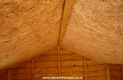 Walton Sheds roof interior and supporting joists
