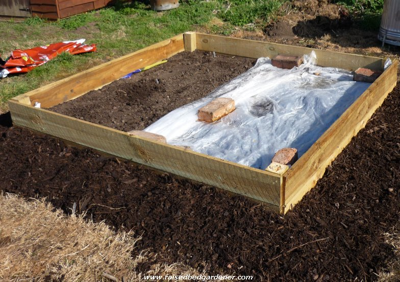 How to build a raised bed from gardenfocused for Making raised garden beds