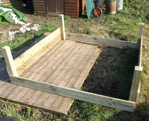 Wrong way to construct raised bed