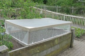 Covered raised bed