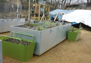 Metal container raised bed