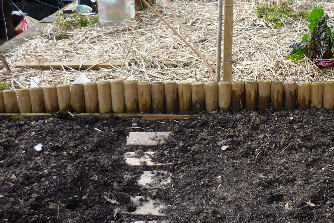 Picture gallery of raised beds for Wooden garden edging